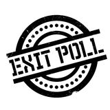 Exit Poll rubber stamp Royalty Free Stock Image