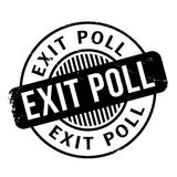 Exit Poll rubber stamp Stock Photography