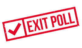 Exit Poll rubber stamp Stock Images