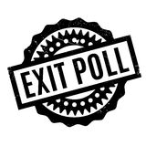 Exit Poll rubber stamp Royalty Free Stock Photo