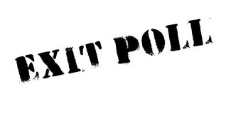 Exit Poll rubber stamp Stock Photo