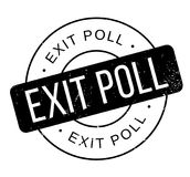 Exit Poll rubber stamp. Grunge design with dust scratches. Effects can be easily removed for a clean, crisp look. Color is easily changed Royalty Free Stock Photos