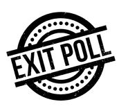 Exit Poll rubber stamp. Grunge design with dust scratches. Effects can be easily removed for a clean, crisp look. Color is easily changed Royalty Free Stock Photography