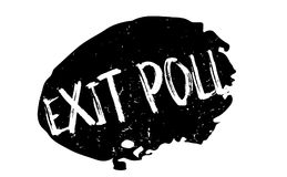 Exit Poll rubber stamp. Grunge design with dust scratches. Effects can be easily removed for a clean, crisp look. Color is easily changed Royalty Free Stock Photo