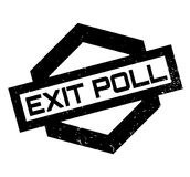 Exit Poll rubber stamp Stock Image