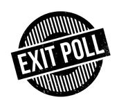 Exit Poll rubber stamp. Grunge design with dust scratches. Effects can be easily removed for a clean, crisp look. Color is easily changed Stock Image
