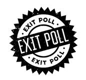 Exit Poll rubber stamp. Grunge design with dust scratches. Effects can be easily removed for a clean, crisp look. Color is easily changed Royalty Free Stock Image