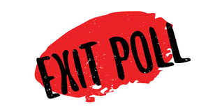 Exit Poll rubber stamp. Grunge design with dust scratches. Effects can be easily removed for a clean, crisp look. Color is easily changed Royalty Free Stock Images