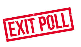 Exit Poll rubber stamp Royalty Free Stock Photography