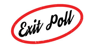 Exit Poll rubber stamp. Grunge design with dust scratches. Effects can be easily removed for a clean, crisp look. Color is easily changed Stock Photo
