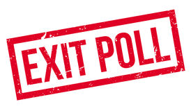 Exit Poll rubber stamp Royalty Free Stock Images