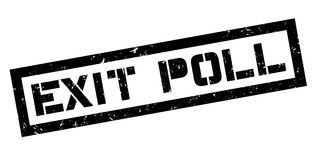 Exit Poll rubber stamp Royalty Free Stock Photos