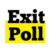 Exit Poll stamp typ. Exit Poll stamp. Typographic label, stamp or logo Royalty Free Stock Photography