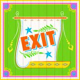 Exit Poster Stock Photography