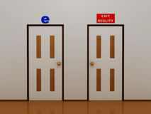 Exit reality.3D Stock Image