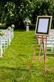 Exit registration weddings. Registration on-site wedding decor Royalty Free Stock Photos