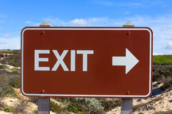 Exit Road Sign With Arrow Royalty Free Stock Images