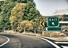 Exit Road Sign, Fillable Royalty Free Stock Images