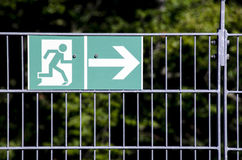 Exit route sign Stock Photos