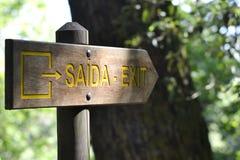 Exit Sign - Saida Board Royalty Free Stock Photos