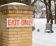 Exit Only satire Stock Image