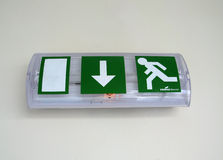 Exit sign. A sign showing the exit from an institution Royalty Free Stock Photos