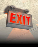 Exit sign stock illustration