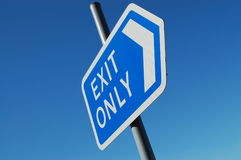 Exit only sign Royalty Free Stock Photos