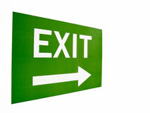 Exit sign. Green Emergency exit sign illustration Stock Photography