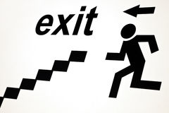 Exit sign Royalty Free Stock Images