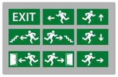 Exit sign Stock Photos