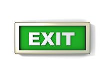 Exit sign. Illustration of green exit sign or button Royalty Free Stock Photography