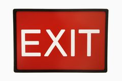 Exit sign. Royalty Free Stock Photos
