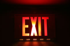 Exit Sign. Emergency Exit Sign royalty free stock photo