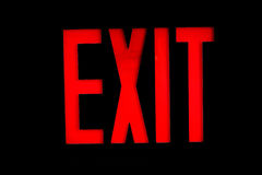 Exit Sign. With red letters on a black background Royalty Free Stock Photography