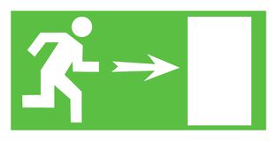 Exit sign Royalty Free Stock Photography