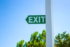 The exit sign Stock Photos