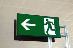 Exit sign at airport. Stock Image