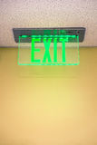 Exit Sign in Building Stock Photo