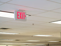 Exit Sign on Ceiling Royalty Free Stock Image