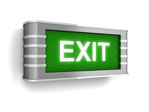 Exit sign. 3d illustration isolated on white background Royalty Free Stock Image