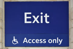 Exit sign with disabled Access Royalty Free Stock Image