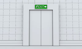 Exit sign on door Royalty Free Stock Image