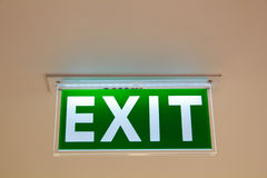 Exit sign. Stock Photo