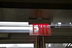 Exit Sign, Emergency Royalty Free Stock Photos