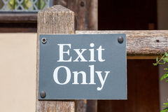 Exit Only sign on a gate Stock Photography
