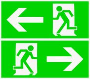 Exit sign in green Stock Photos