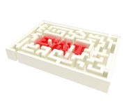 Exit sign icon as a labyrinth isolated. On white Royalty Free Stock Photography
