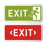 Exit sign illustration. Pack of two. Vector graphic Stock Photo