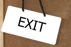 Exit sign label. Stock Photos